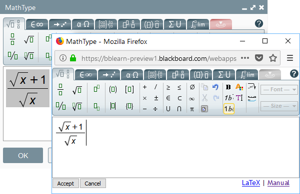 Using MathType Web - MathType - Documentation - WIRIS