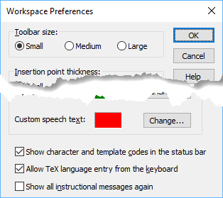 To show character codes, select that option in Workspace Preferences.