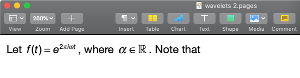 Equations look great in Pages for Mac